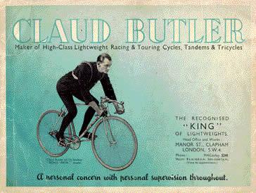 "CLAUD BUTLER /""Majestic/"" top tube script"